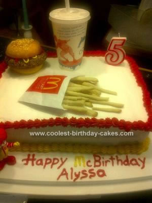 Homemade McBirthday Cake
