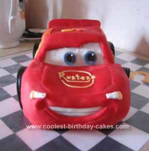Homemade McQueen Birthday Cake