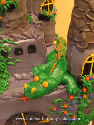 Homemade Medieval Castle Cake