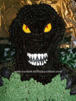 Homemade Megasaurus Cake