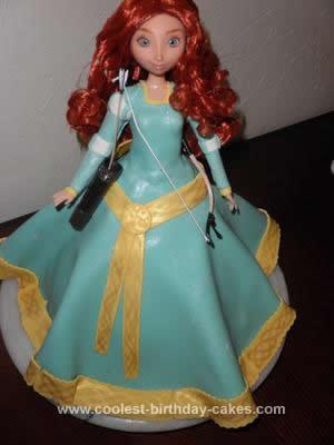 Homemade Merida from Brave Cake