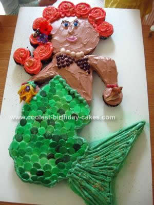 Homemade Mermaid Birthday Cake Design