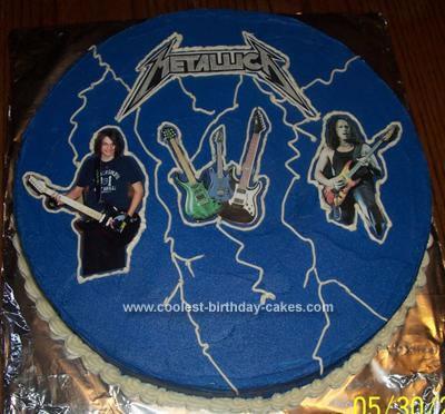 Homemade  Metallica Birthday Cake
