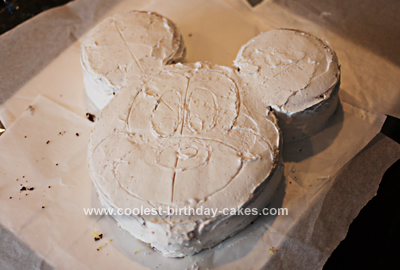Homemade Mickey Mouse Birthday Cake Design