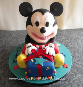 Homemade Mickey Mouse Cake