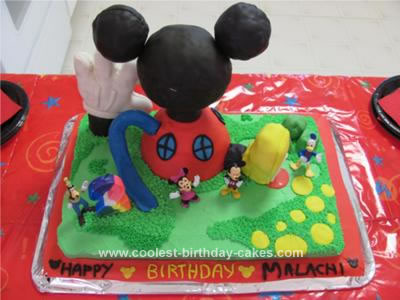 Homemade Mickey Mouse Clubhouse Birthday Cake