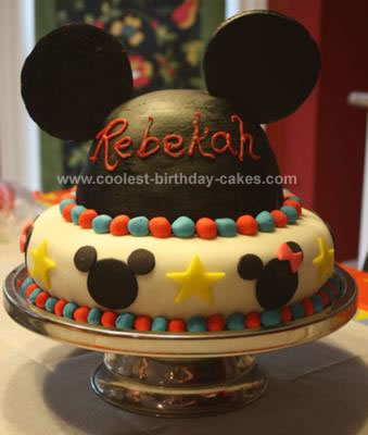 Homemade Mickey Mouse Hat Cake