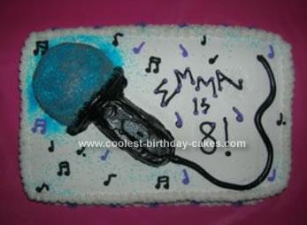 Homemade Microphone Cake