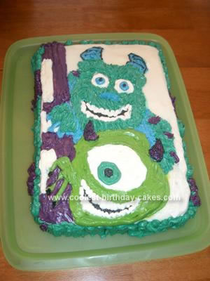 Monsters Inc. - Mike and Sully in Buttercream