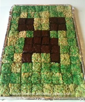 Coolest Minecraft Creeper Cake 3