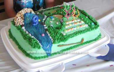 Coolest Miniature Golf Birthday Cake 40