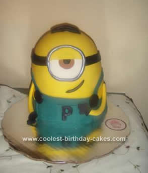 Homemade Minion Birthday Cake