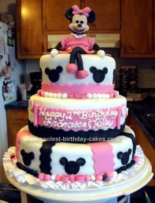 Minnie Mouse Birthday Cakes on Coolest Minnie Mouse 2nd Birthday Cake 46 21342979 Jpg