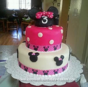 Coolest Minnie Mouse 3rd Birthday Cake 101