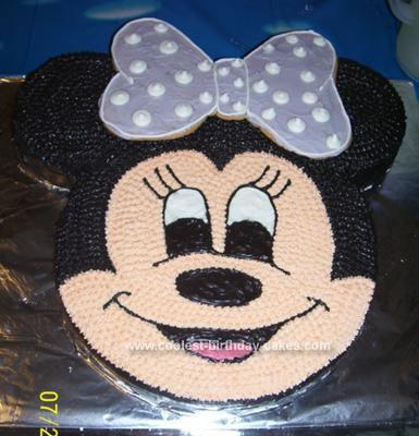 Homemade Birthday Cake on Homemade Minnie Mouse Birthday Cake