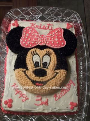 Homemade Minnie Mouse Sheet Cake Homemade Minnie Mouse Birthday