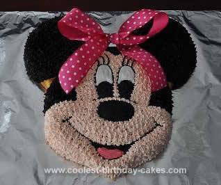 Homemade Minnie Mouse Birthday Cake Design