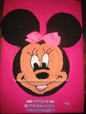 Homemade Minnie Mouse Cake