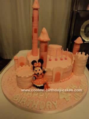 Homemade Minnie Mouse Castle Cake