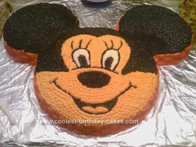 Homemade Minnie Without The Bow Cake