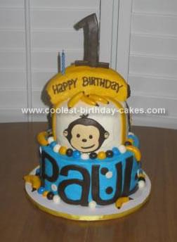 Homemade Mod Monkey Cake
