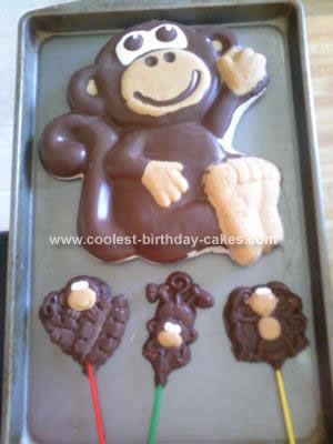 Homemade Monkey Birthday Cake Design