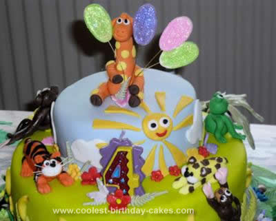 Homemade Monkey Jungle Cake