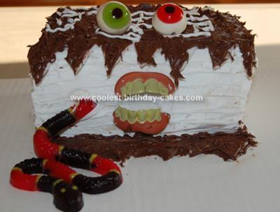 Homemade Monster Birthday Cake