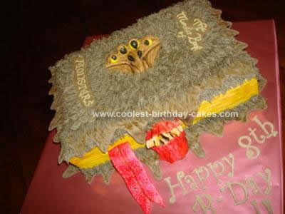Homemade Monster Book of Monsters Cake (Harry Potter)