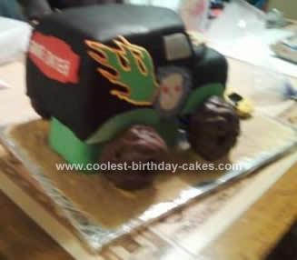 Homemade Monster Truck Birthday Cake Design