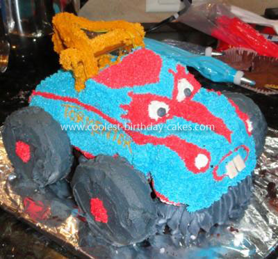 Monster Truck Birthday Cake on Coolest Monster Truck Mater Cake