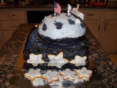 Homemade Moon Birthday Cake Design