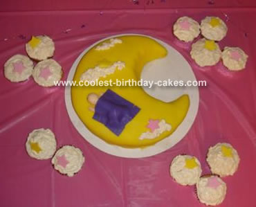 Moon Baby Shower Cake