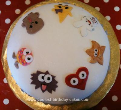 Homemade Moshi Monsters Moshling Cake