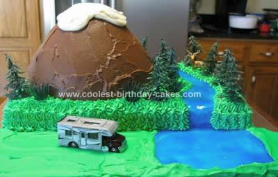 Homemade Mountain Cake