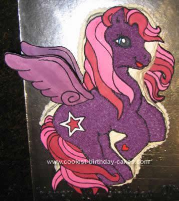 Homemade My Little Pony Cake