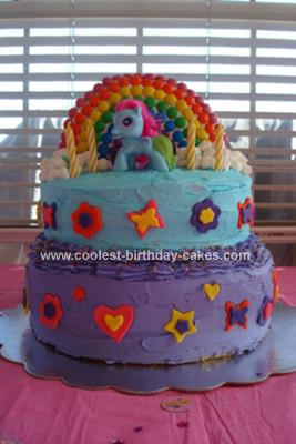Homemade My Little Pony Rainbow Dash Cake