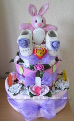 Homemade Nappy Cake