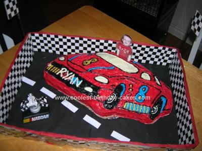 NASCAR Cakes http://www.birthdaycakes-idea.com/nascar-cake-for-birthday-party.html
