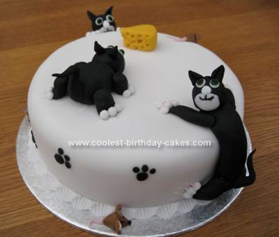 Homemade Naughty Cat Cake