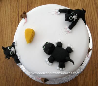 Homemade Naughty Cat Cake