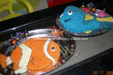 Homemade Nemo And Dory Birthday Cake