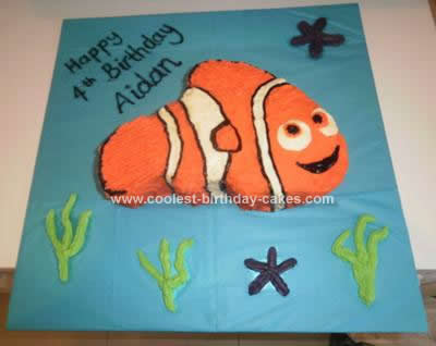 Homemade Nemo Birthday Cake Idea