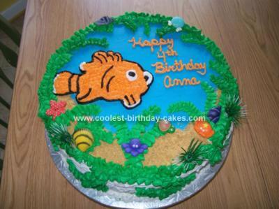 Homemade Nemo Under the Sea Birthday Cake