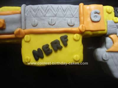 Homemade Nerf Gun Cake