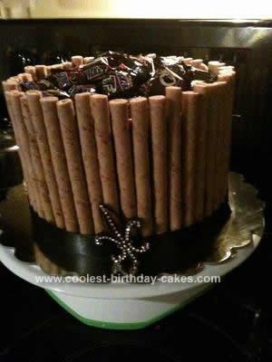 Homemade NFL Chocolate Marble Cake