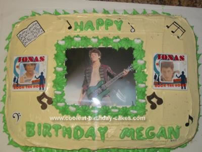 Homemade Nick Jonas Birthday Cake