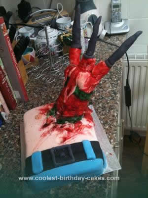 Homemade Nightmare On Elm Street Cake