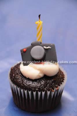 Homemade Nikon D300 Camera Birthday Cake Design