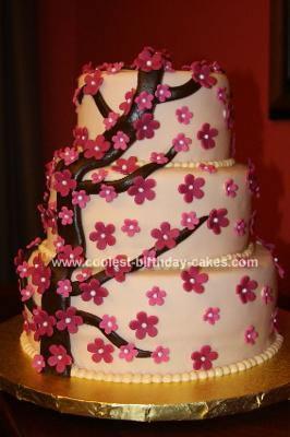 Homemade November Embrace Tiered Flower Cake